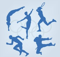 Silhouette of Olympic sports figures