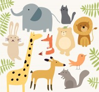 Simple cute animals