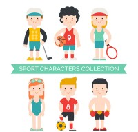 Sports characters dressing up