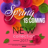 Spring flowers promotional posters