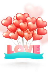Stereo romantic heart shaped balloon