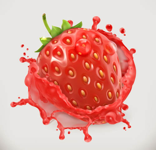 Strawberry vector material