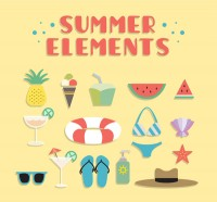 Summer Beach Resort elements
