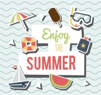 Summer elements clip art