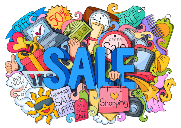 Summer sales promotion illustration