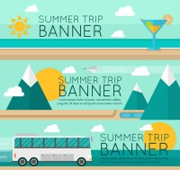 Summer travel banner