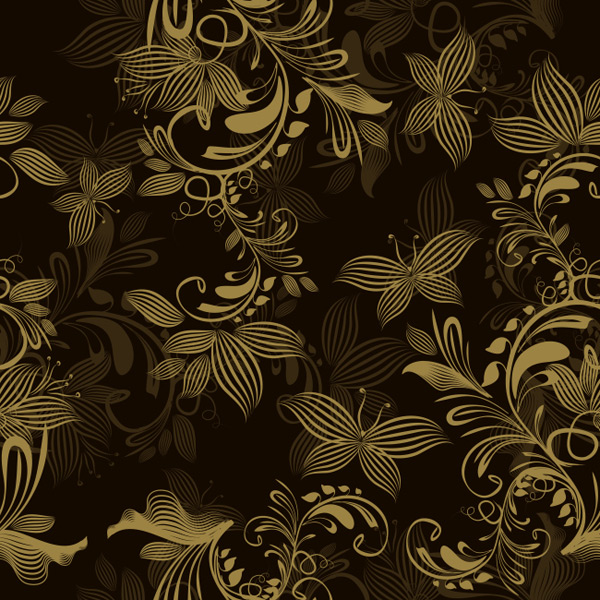 The golden butterfly love pattern background