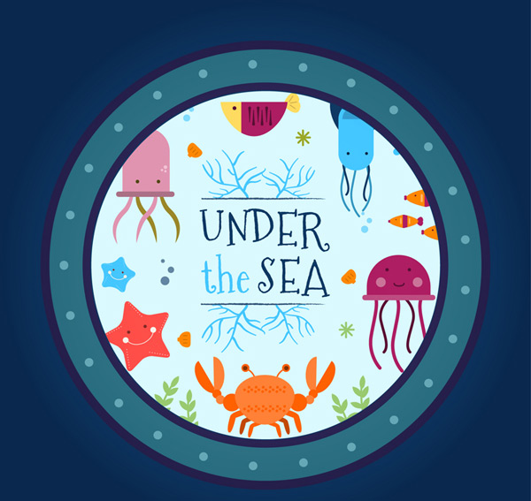 The underwater world out of the window