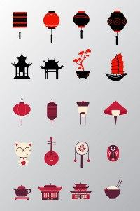 Thematic elements of Chinese wind