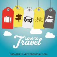 Travel tag vector