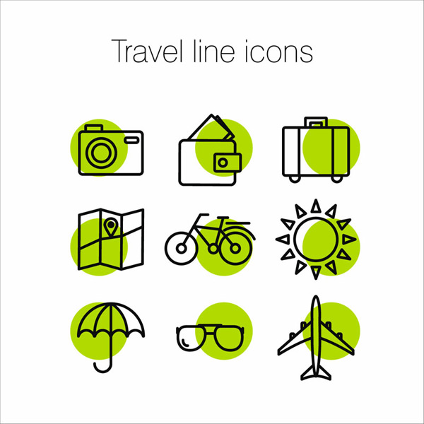 Travel thin wire Icon