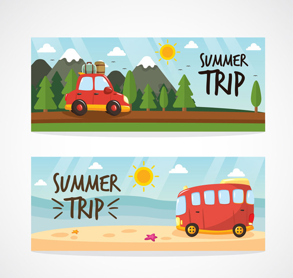 Travel van banner