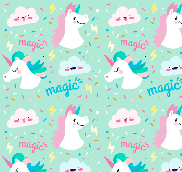 Unicorn head background