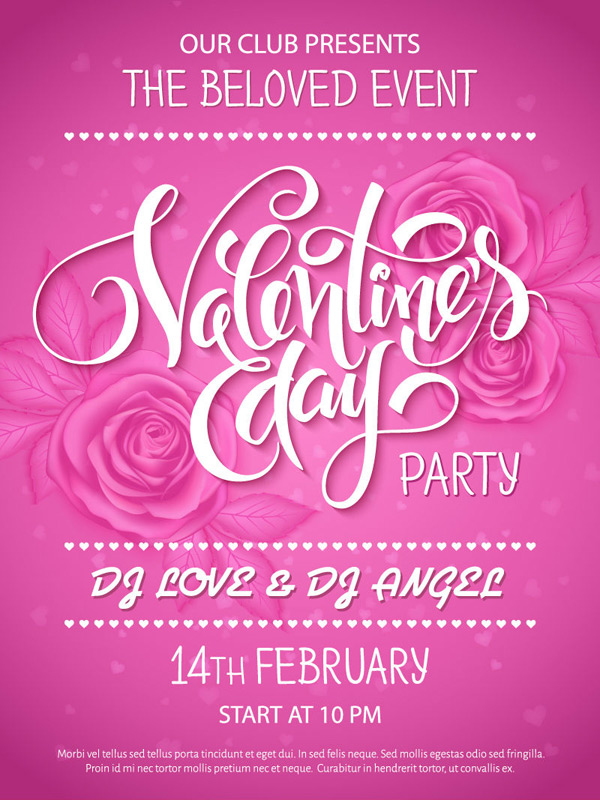 Valentine s Day party Poster