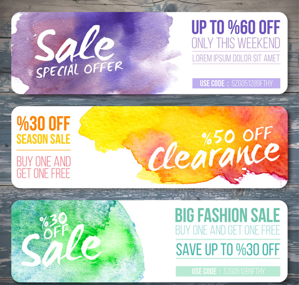 Water color painting promotion banner