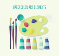 Water color painting tools
