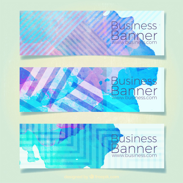 Watercolor Business Banner