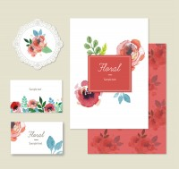 Watercolor rose card