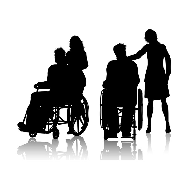 Wheelchair characters and nursing