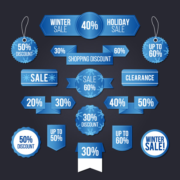 Winter promotional labels
