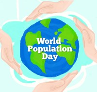 World Population Day card