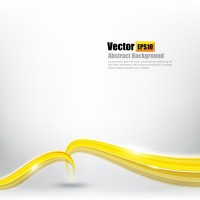 Yellow wavy curve background