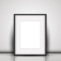 A blank frame on the ground