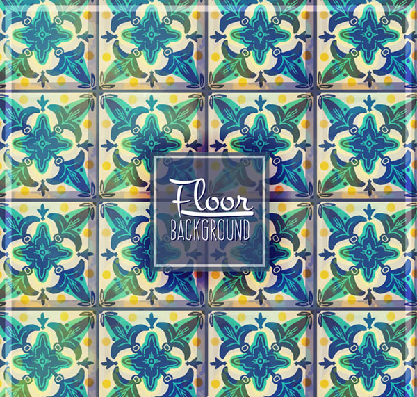 Background of pattern tile