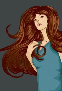 Beautiful hair woman
