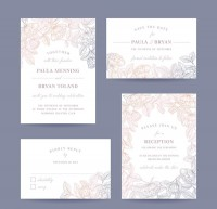 Beautiful pattern invitation card