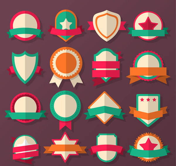 Blank badge vector