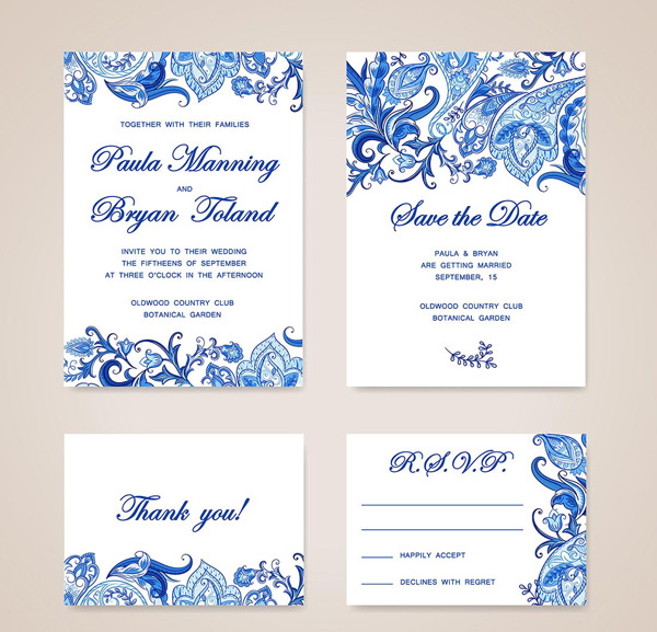 Border card invitation card