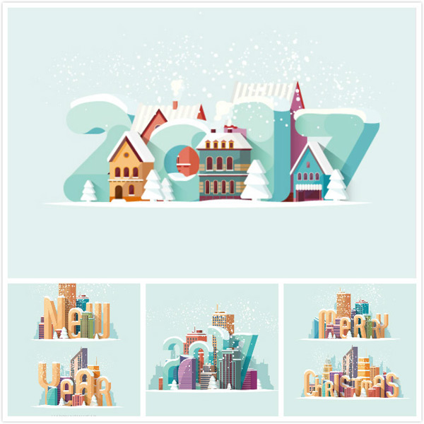 Building new year background