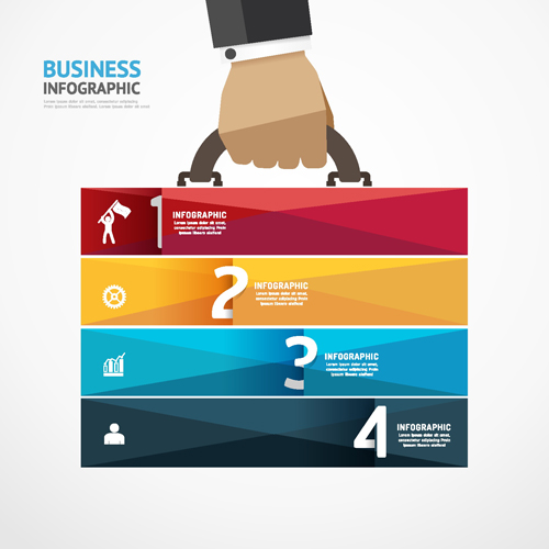 Business briefcase information map