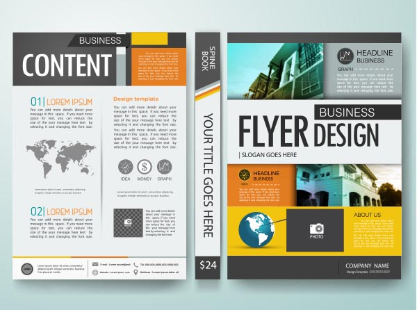 Business page vector