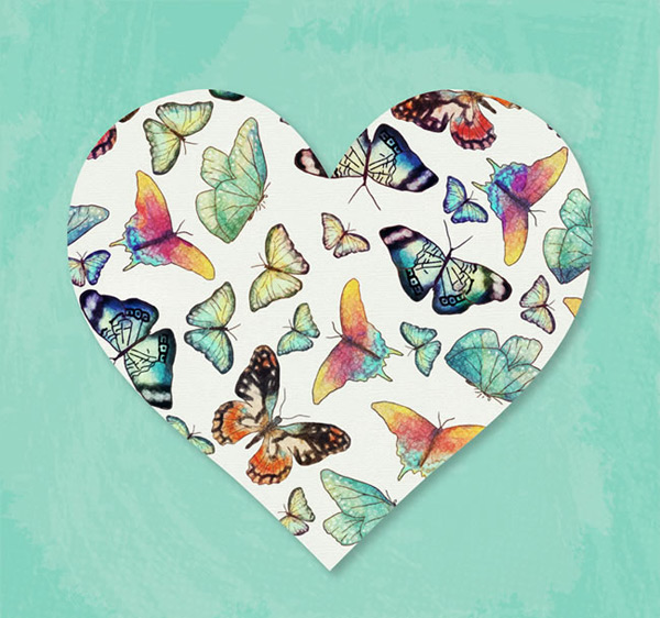 Butterfly decoration love