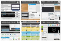 Button web design elements