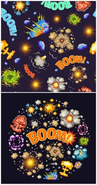 Cartoon boom pattern