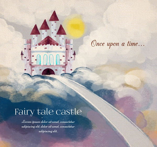 Cartoon fairy castle
