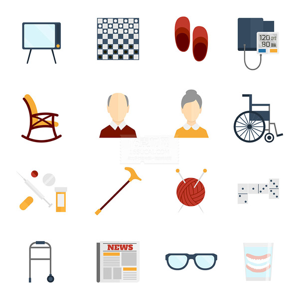 Cartoon icon pattern