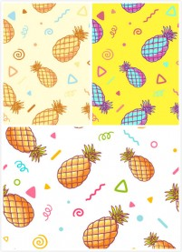 Cartoon pineapple pattern background