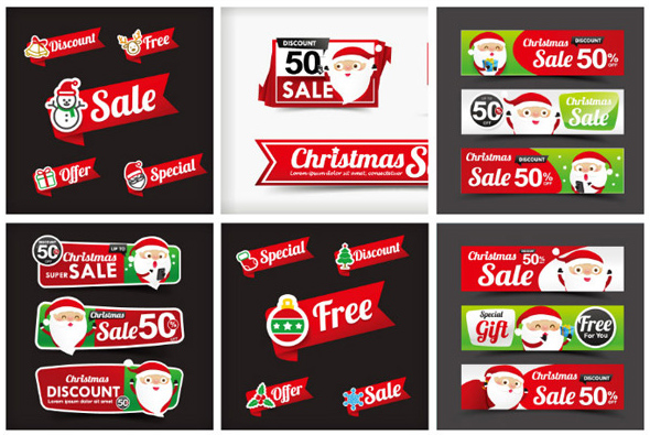Christmas promotion label