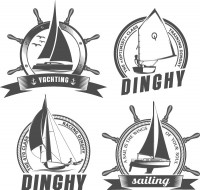 Circular sailing sticker
