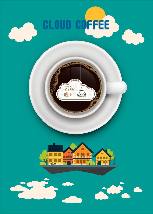 Cloud coffee Poster