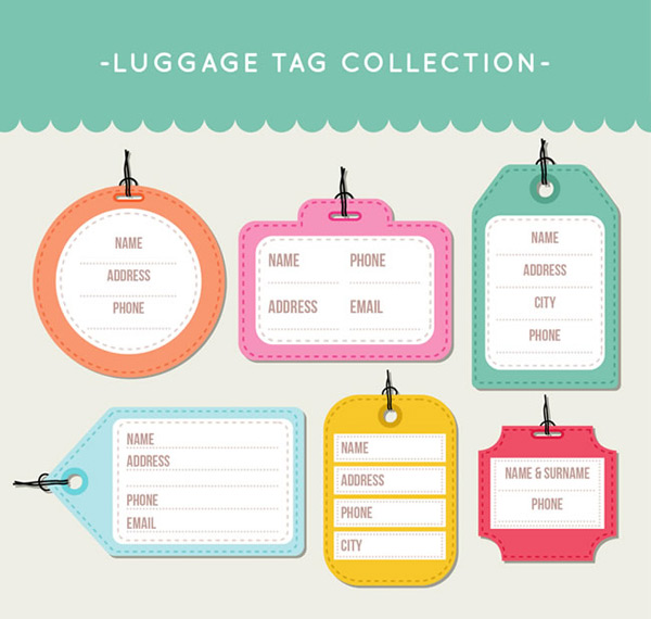 Color luggage tag