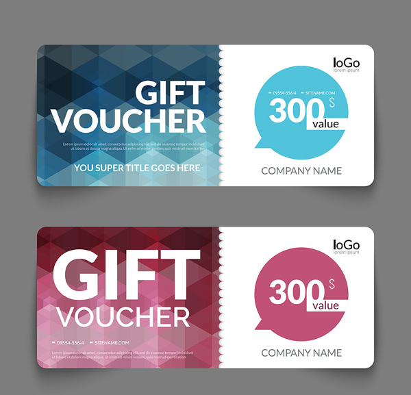 Color matching gift card vector