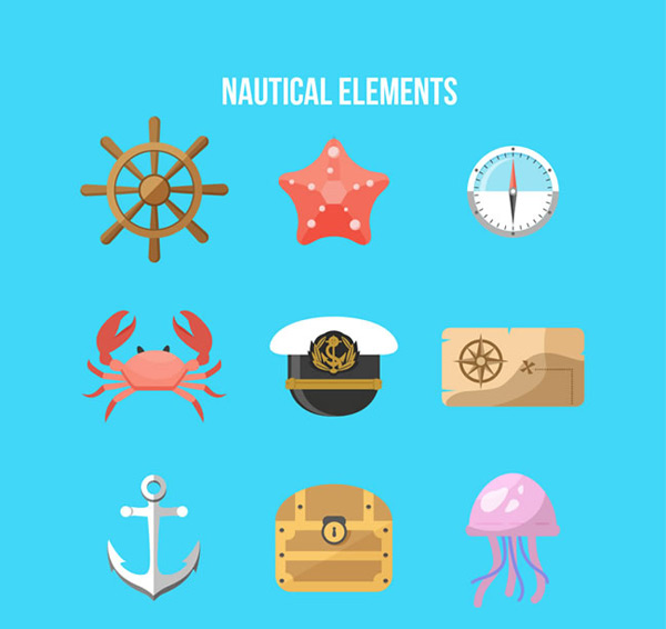 Color nautical elements