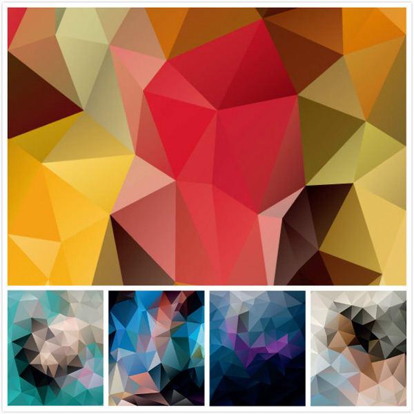 Colorful geometric diamond background