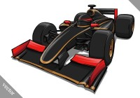 Cool F1 racing vector