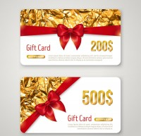 Creative ribbon gift cards